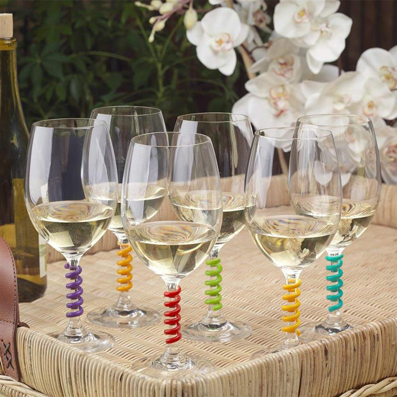 Wine Glass Party Charms - Wine Shadow