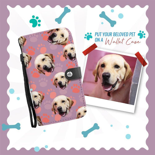 Custom Dog Wallet Phone Case | Personalized Wallet Phone Case (Labrador Retriever) - Wine Shadow