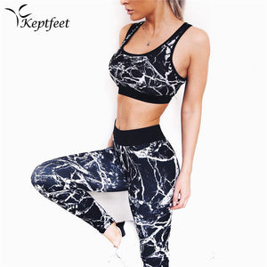 2PC Graffiti Printed Women's Sport Wear