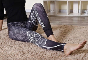 Black Lotus Yoga Pants