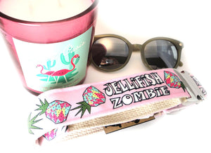 Funky Pineapple Punch Dog Collar {Bubblegum Pink}