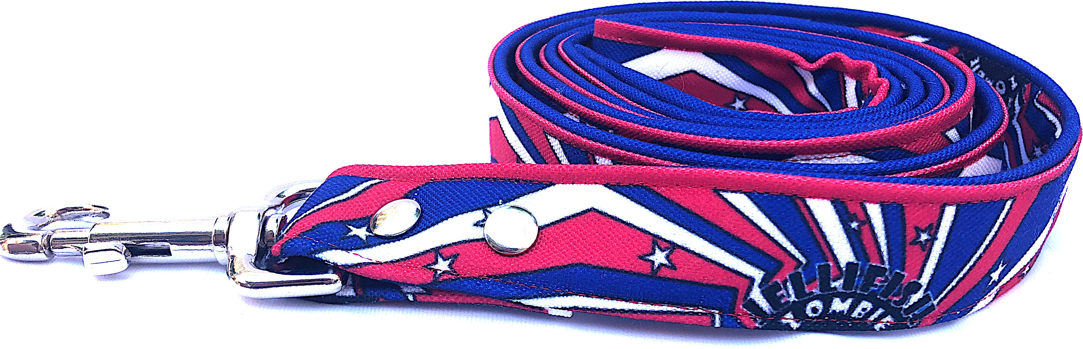 Red, White & Blue Dog Leash