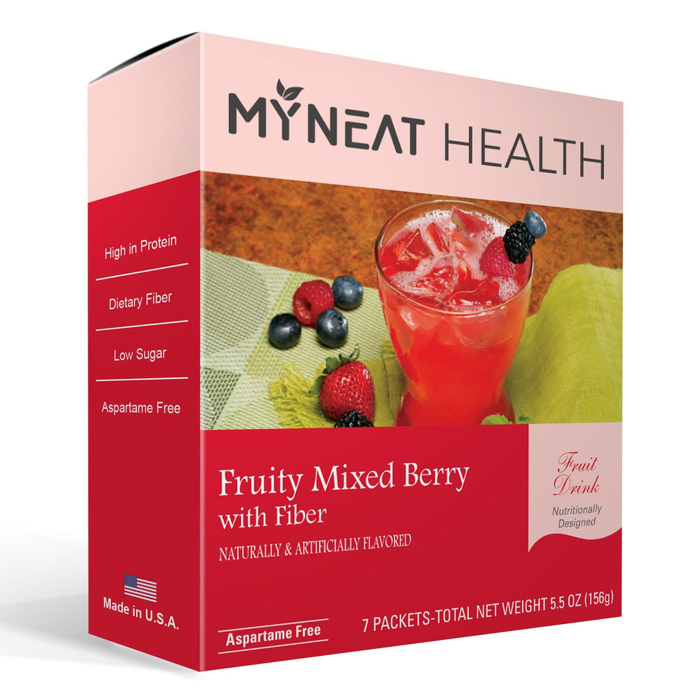 Fruity Mixed Berry Protein Drink with Fiber