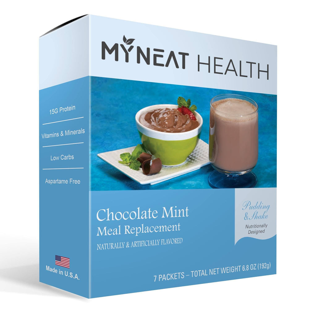 Chocolate Mint Meal Replacement Pudding & Shake (7/Box)