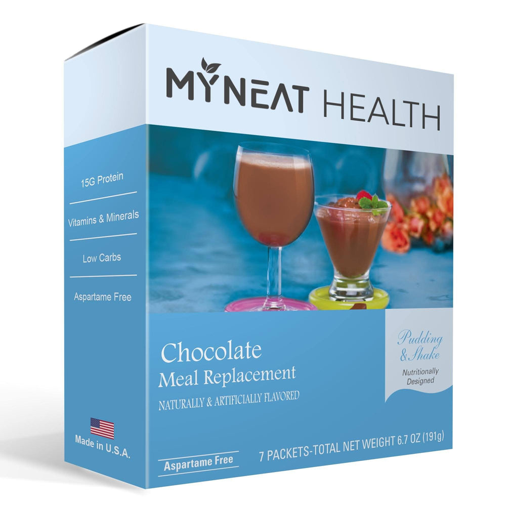 Chocolate Meal Replacement Pudding & Shake (7/Box)