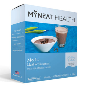 Coffee Mocha Meal Replacement protein shake by My Neat Nutrition. Healthy Kosher Protein shake for weight loss