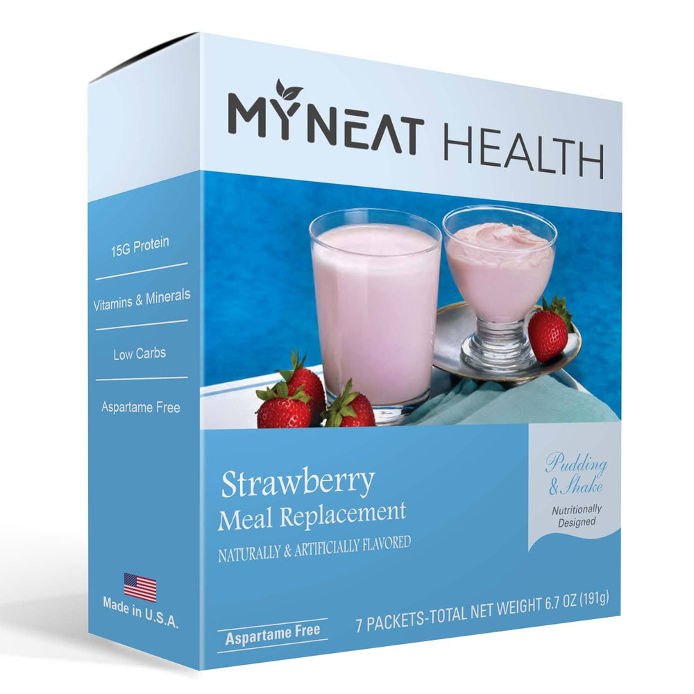 Strawberry Meal Replacement Pudding & Shake (7/Box)