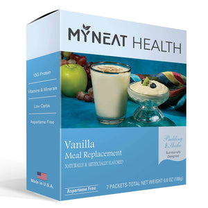 Vanilla Meal Replacement protein shake by My Neat Nutrition. Healthy Kosher Protein shake for weight loss