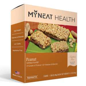 Lose weight with Peanut Meal Replacement Bar by My Neat Nutrition. Healthy Kosher Protein bar