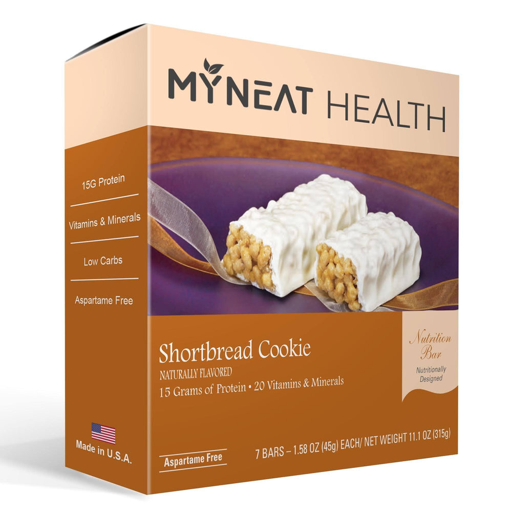 Lose weight with Shortbread Cookie Meal Replacement Bar by My Neat Nutrition. Healthy Kosher Protein bar