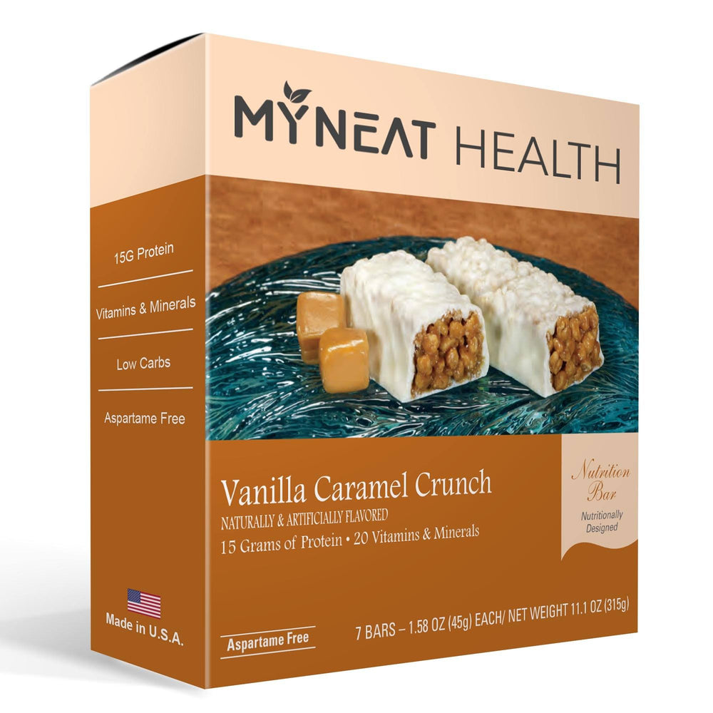 Vanilla Caramel Crunch Meal Replacement Bar (7/Box) | My Neat Health