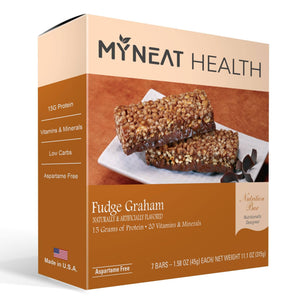Lose weight with Fudge Graham Meal Replacement Bar by My Neat Nutrition. Healthy Kosher Protein bar