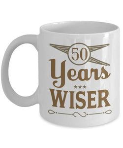 Age Quote - Coffee Mug - 50 years wiser Coffee Mug Gearbubble