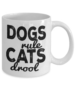 Animal Lover Gifts - Coffee Mug - Dogs rule cats drool Coffee Mug Gearbubble