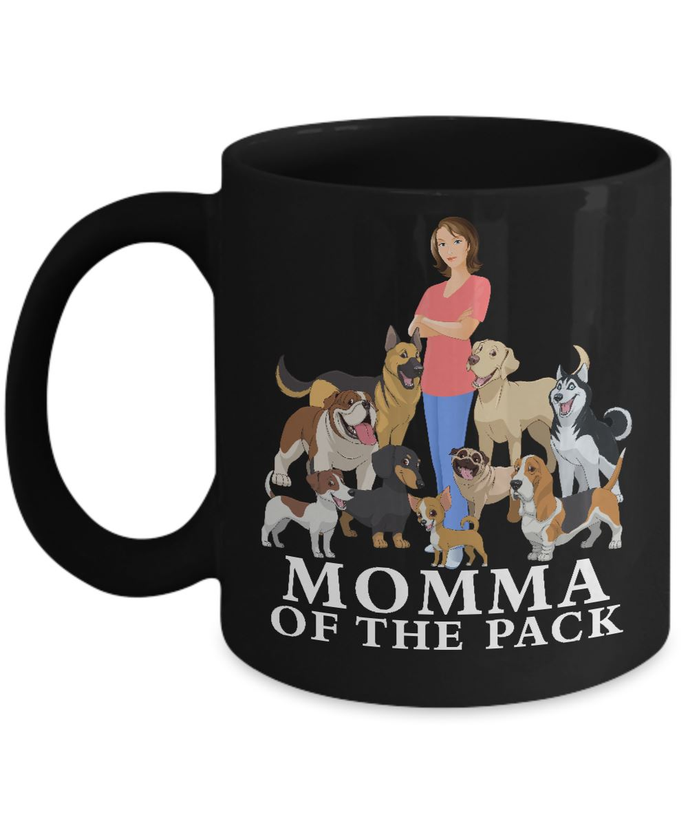 Black Mug - Momma of the Pack Coffee Mug Gearbubble 11oz Mug Black