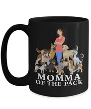 Black Mug - Momma of the Pack Coffee Mug Gearbubble 15oz Mug Black