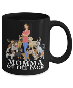 Black Mug - Momma of the Pack Coffee Mug Gearbubble