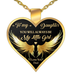 Dad's Gift to Daughter, Father Daughter Gift, You will always be my Little Girl - Necklace Necklace Gearbubble