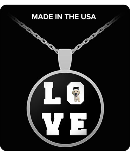 Dog Lover Necklace -LOVE - I Love My Little Pup! - Silver or Gold Pendant Necklace Gearbubble