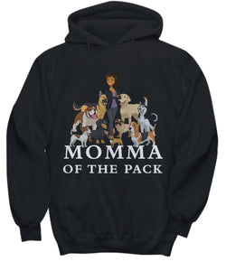 Dog Lover Shirt- Momma of the Pack - African American dog lover Shirt / Hoodie Gearbubble