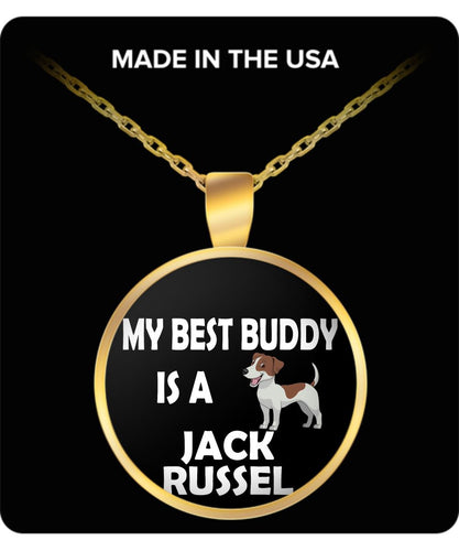 Funny Dog Coffee Mug for Jack Russell Lovers - My Best Buddy is a Jack Russell - Ceramic Mug- Necklace Gearbubble