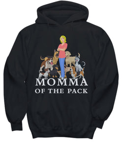 Funny Dog Shirt- Momma of the Pack - Blond Woman- Love'm All - Hoodies, t-shirts and Sweat Shirts for Dog Lovers Shirt / Hoodie Gearbubble
