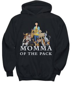 Funny Dog Shirt- Momma of the Pack for Dog Lovers - Young Lady Good Days Shirt / Hoodie Gearbubble