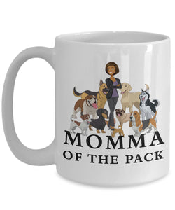 Momma of the Pack - African American - White 15 ounce Mug Coffee Mug Gearbubble 15oz Mug White
