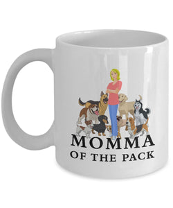 Momma of the Pack - Blond - Love'm All - Mug Coffee Mug Gearbubble 11oz Mug White