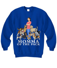 Momma of the Pack - For a Dog Lover Who Loves ALL Her Dogs - Novelty Woman's T-Shirts and Hoodies Shirt / Hoodie Gearbubble Sweatshirt Royal Blue sml