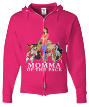 Momma of the Pack - For a Dog Lover Who Loves ALL Her Dogs - Novelty Woman's T-Shirts and Hoodies Shirt / Hoodie Gearbubble Zip Hoodie Light Pink sml