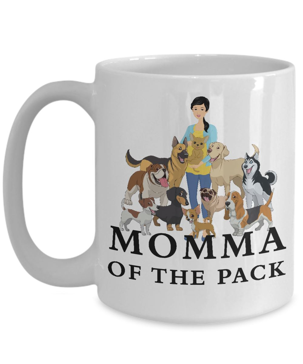 Momma of the Pack - Good Days - White 15 ounce Mug Coffee Mug Gearbubble 15oz Mug White