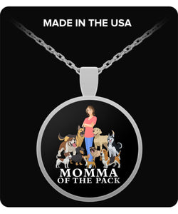 MOMMA OF THE PACK - Round Necklace Necklace Gearbubble Round Pendant Necklace