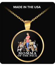 MOMMA OF THE PACK - Round Necklace Necklace Gearbubble Round Pendant Necklace - Gold Plated