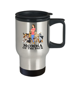 Momma of the Pack Travel Mug - I LOVE Them All! Travel Mug Gearbubble