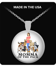 Necklace - Momma of the Pack - Happy Days! Necklace Gearbubble Round Pendant Necklace