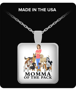 Necklace - Momma of the Pack - Happy Days! Necklace Gearbubble Square Pendant Necklace