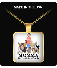 Necklace - Momma of the Pack - Happy Days! Necklace Gearbubble Square Pendant Necklace - Gold Plated