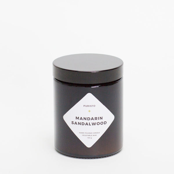 MANDARIN + SANDALWOOD - Puristo Kerze, Medium