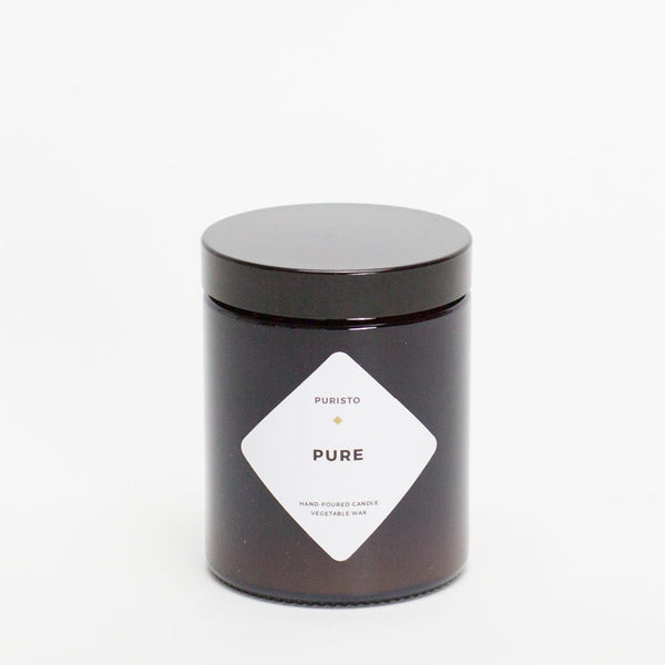 PURE / ohne Duft - Puristo Kerze, Medium