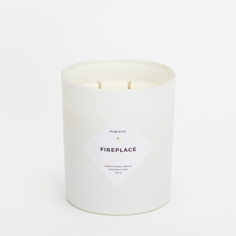 FIREPLACE - Puristo - White Candle