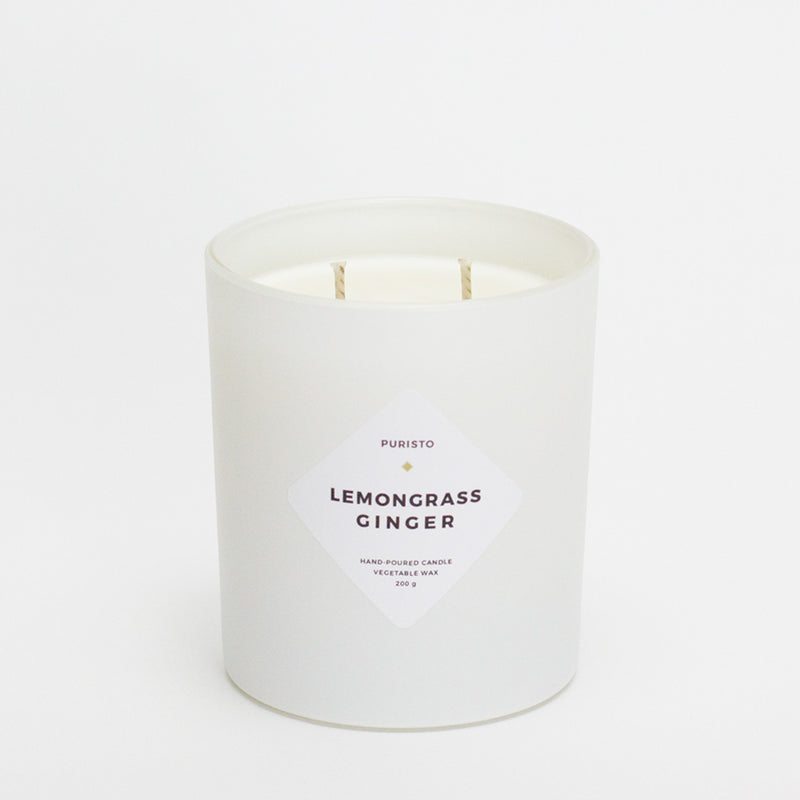LEMONGRASS + GINGER - Puristo - White Candle
