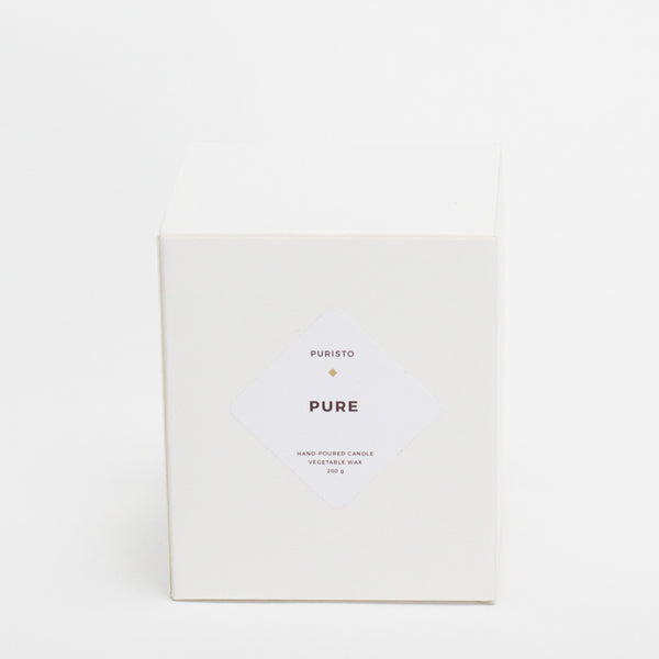 PURE / ohne Duft - Puristo - White Candle
