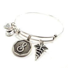 "Alex and Ani ""S Letter"" Charm Bracelet"