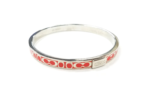 Coach Thin Signature Bangle Bracelet