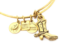 Alex and Ani Cowboy Boot Charm Bracelet