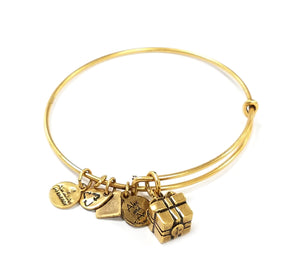 Alex and Ani Gift Box Charm Bracelet