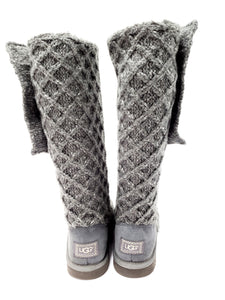 UGG Lattice Knit Cardy Tall Boots Sz. 8