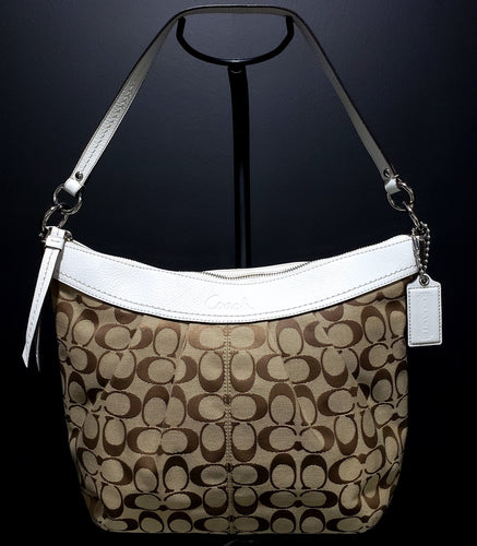 Coach Signature Canvas Hobo Bag