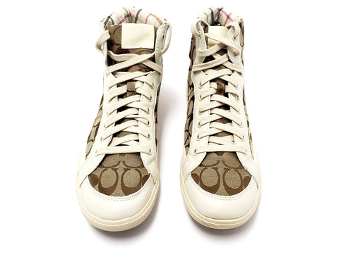 Coach Ellis High Top Monogram Sneakers Sz 11B